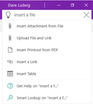 Tell Me feature on OneNote. Source: microsoft.com