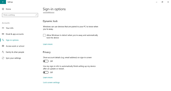 Automatically sign-in after restarting