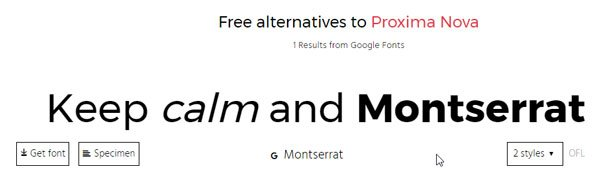 Alternatype lets you find free alternatives to paid fonts