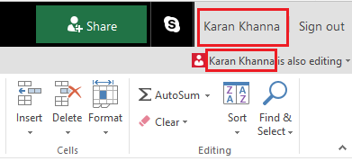 Co-Author and Collaborate in Excel