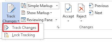 Track Changes and Comments in Word