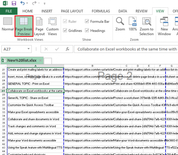 Insert, Move or Delete Page Breaks in Excel