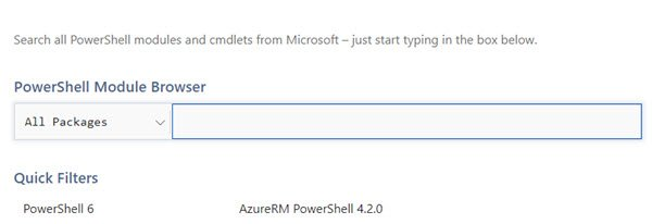 PowerShell Module Browser Site