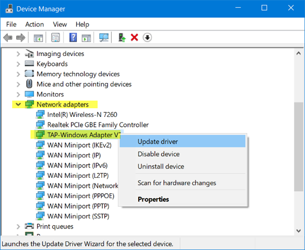 Tap-Windows adapters driver