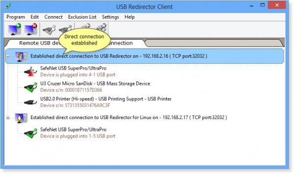 USB Redirector Client