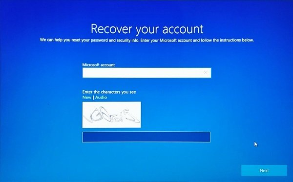 Recover password from Lock Screen in Windows 10