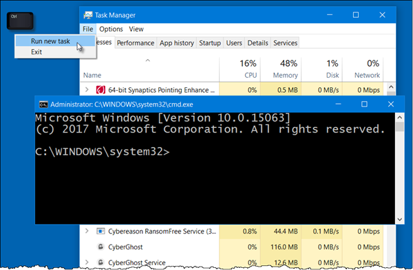 Open Command Prompt from Task Manager