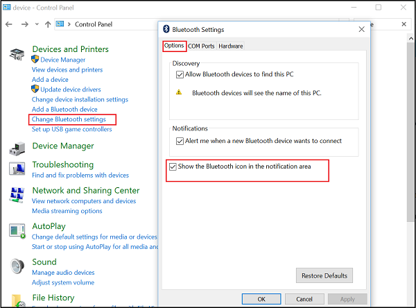 Bluetooth Icon Missing In Windows 10 Action Center