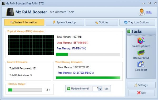 Mz RAM Booster for Windows 10