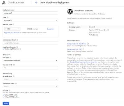 How to install WordPress on Google Cloud Platform