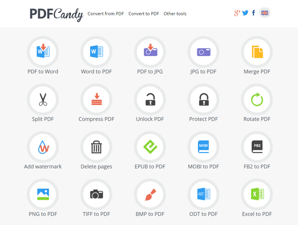 PDF Candy all-in-one tool to process PDF