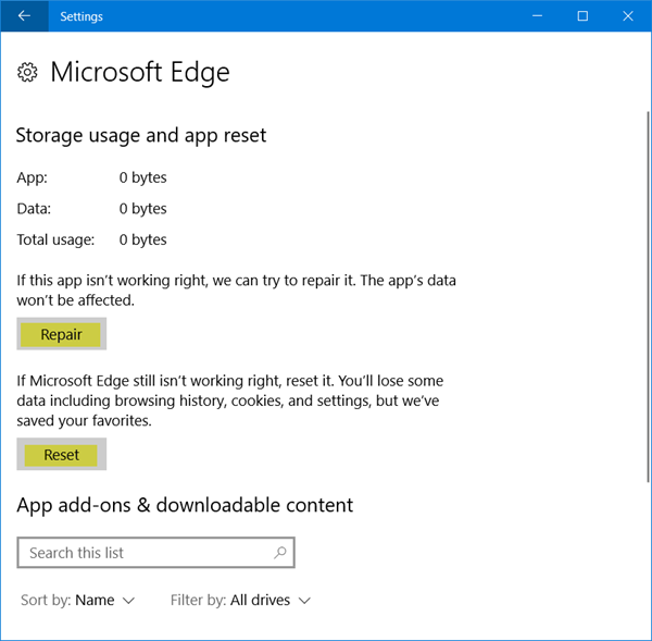 How To Reset Repair Or Reinstall Edge Browser In Windows 10