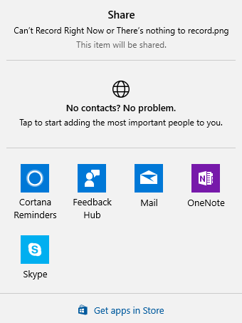 share item windows 10 context menu