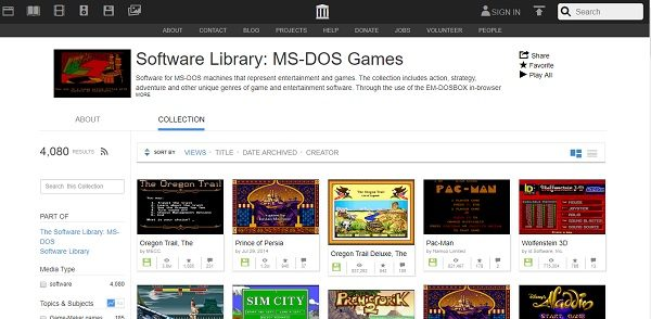 Play MS DOS games online