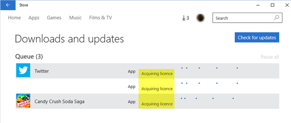 How to sync app licenses in Windows Store