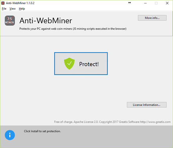Anti-WebMiner for Windows
