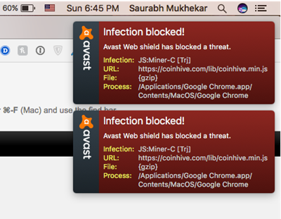 CoinHive mac infection