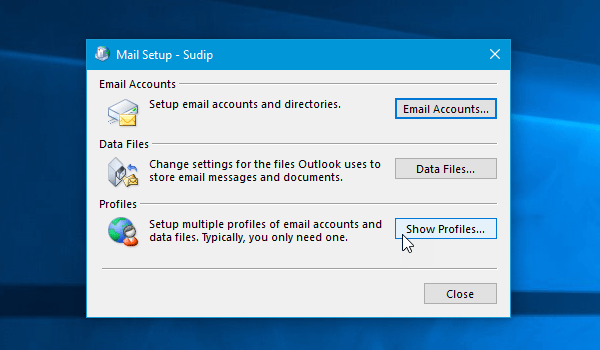 Outlook cannot log on, verify you are connected to the network