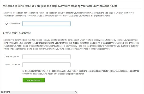 Zoho Vault Password Manager
