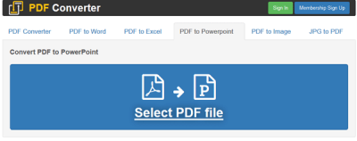 Convert PDF to PPT online