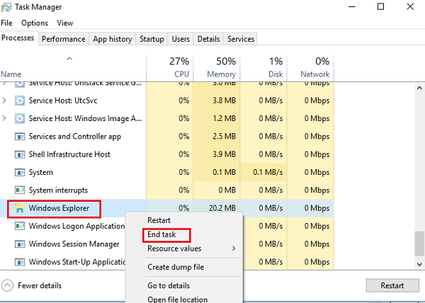 File Explorer will not open in Windows 10
