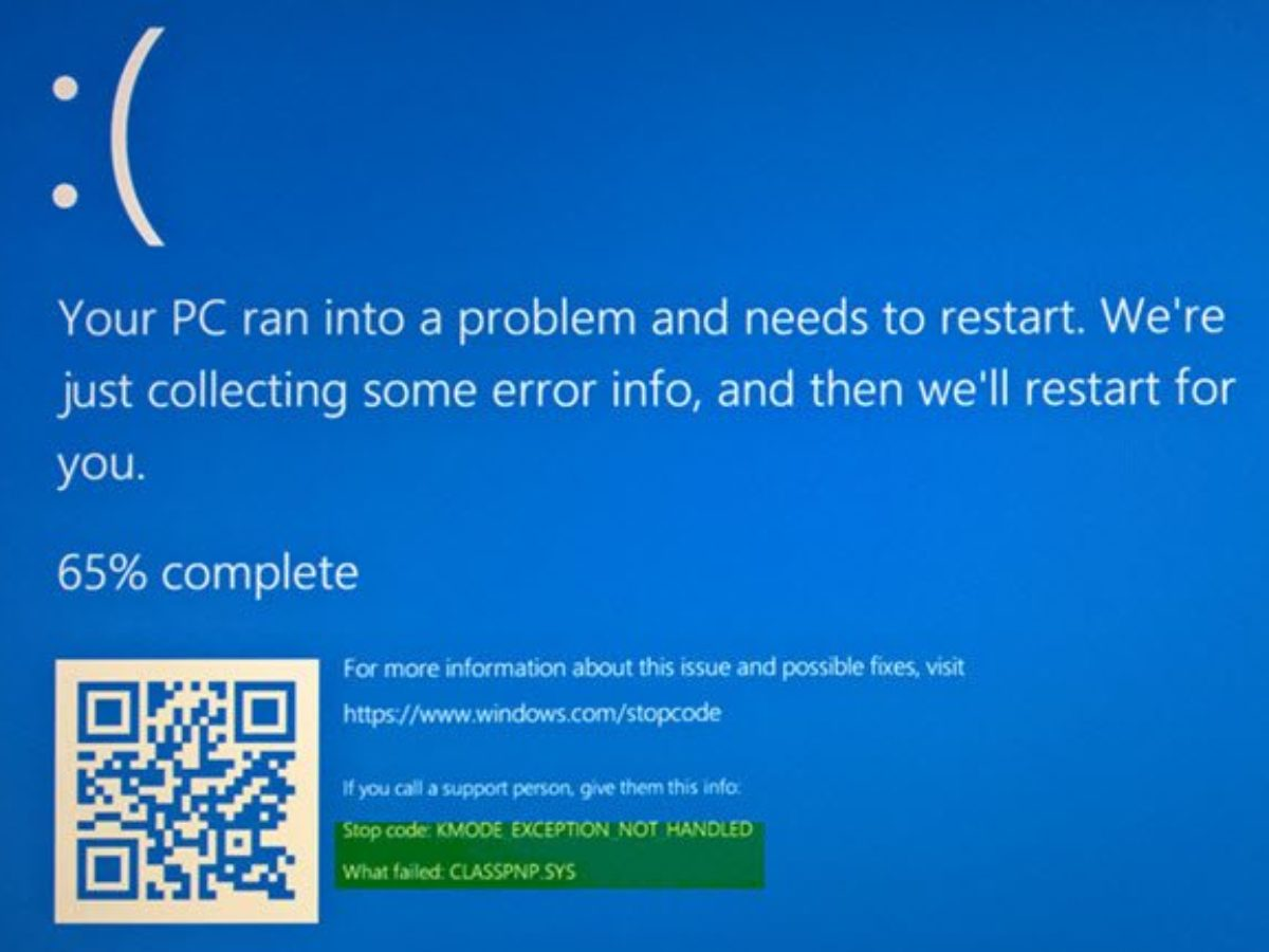 KMODE_EXCEPTION_NOT_HANDLED Blue Screen on Windows 10