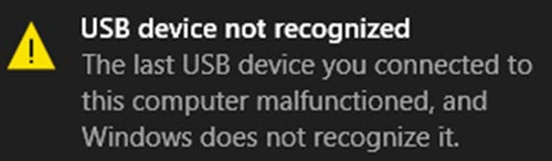 USB-C not working or recognized