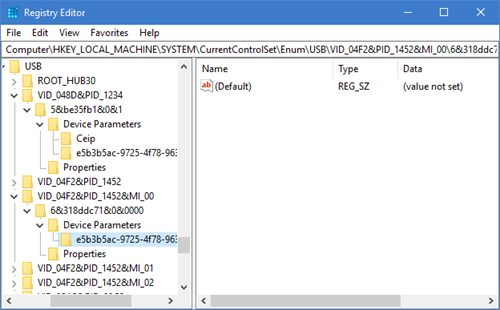 USB Selective Suspend feature is disabled 6