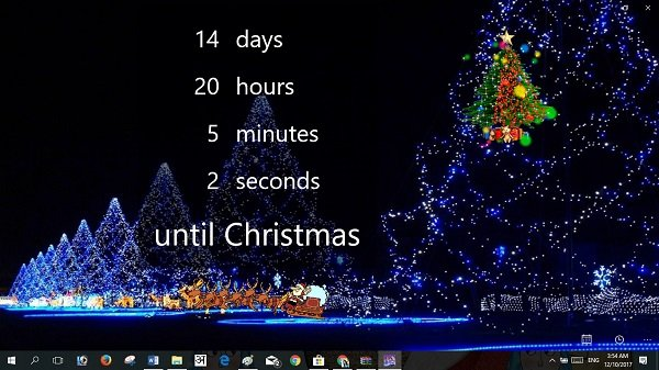 christmas countdown PC