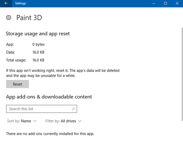 Paint 3D is currently not available in your account
