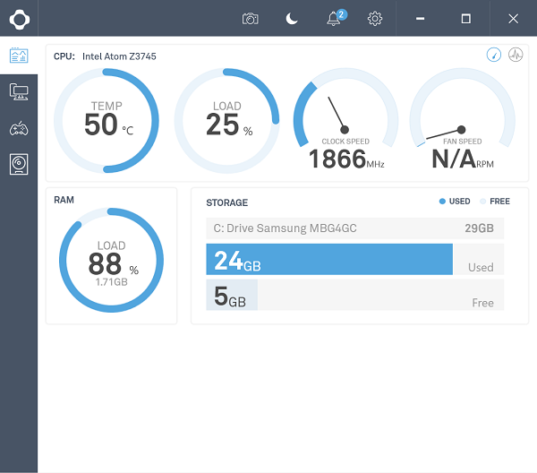 CAM is a free PC monitoring tool