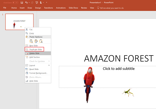 Morph Transition feature in PowerPoint