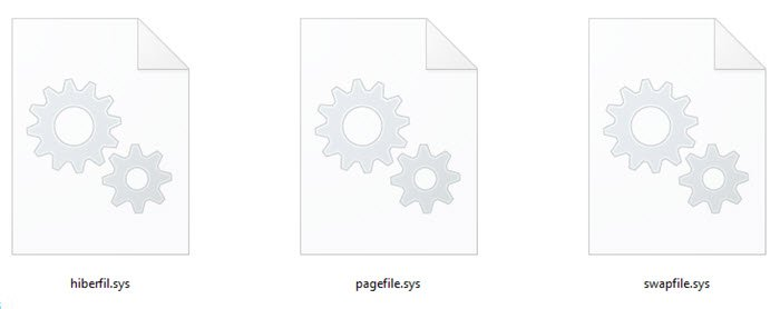 Hiberfil.sys, Pagefile.sys & the New Swapfile.sys
