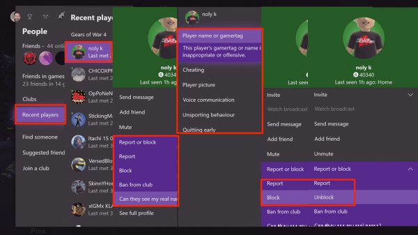 How to Report and Block Gamertag, Content, and Messages in Xbox One