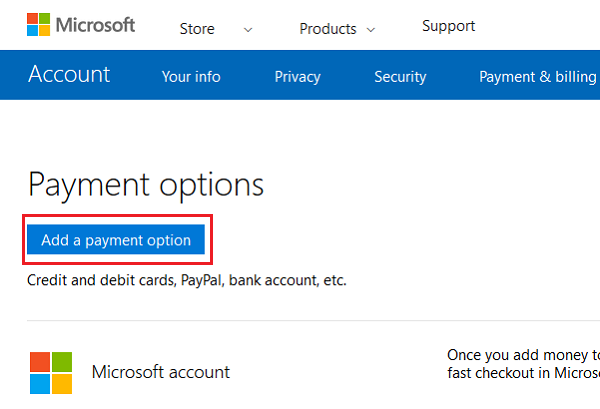 Troubleshoot Microsoft Account payment issues and problems