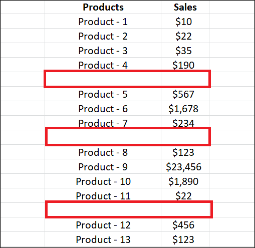 calculate sporadic totals in excel