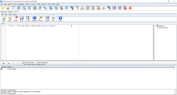 View and Edit Microsoft Access Database Files
