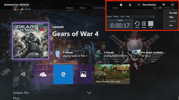 Record Xbox One Gameplays Videos with Audio