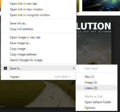 How to use multiple Download folders in Firefox or Chrome