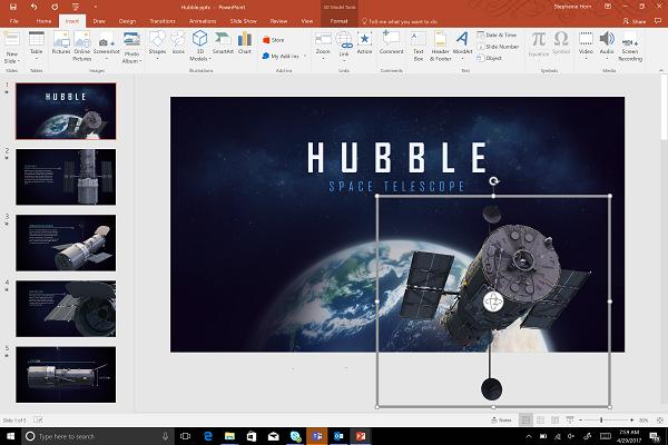 Insert animated 3D Models into PowerPoint