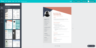 Online tools to create professional Resume or CV