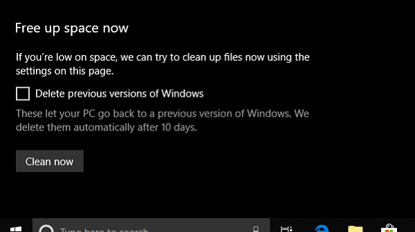 Free Up Space Windows 10 Storage Sense