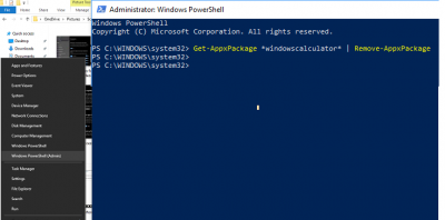 Remove built-in Windows 10 apps using PowerShell Script