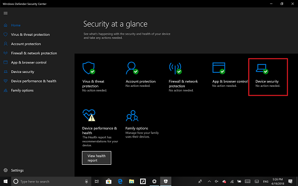 Windows Defender Security System for PC