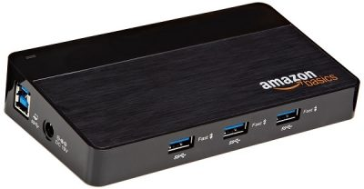 AmazonBasics 4-Port USB 2.0 Ultra-Mini Hub