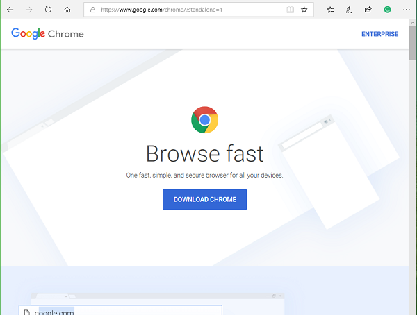 Download Google Chrome Offline Installer setup