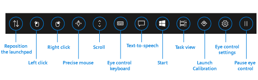 Eye Control Launch Pad for Windows 10