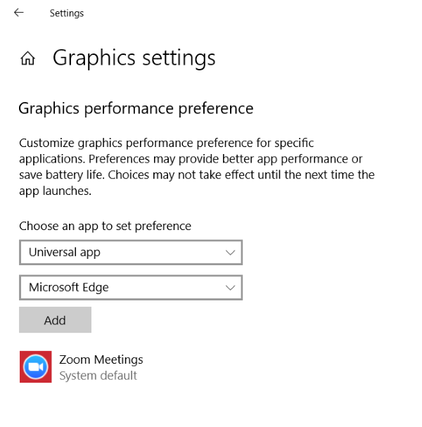 Fix Windows 10 application has been blocked from accessing graphics hardware