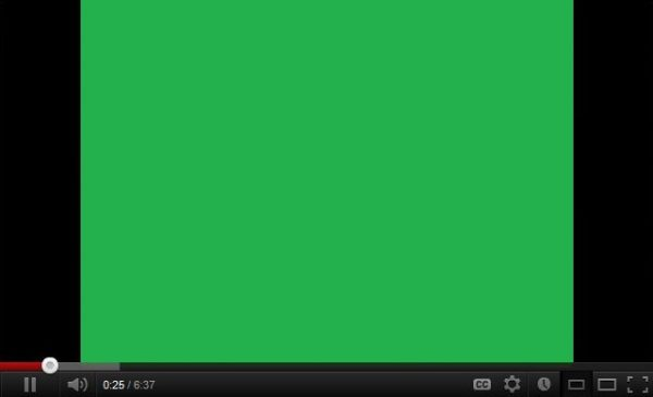 Green Screen when playing videos