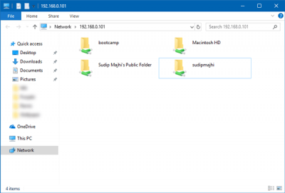 share files between Mac and Windows